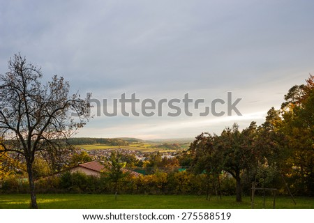 Landscape in Althengstett, Black Forest, Baden-Wuerttemberg, Germany, Europe - stock photo