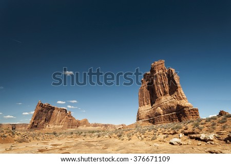Landscape in Arches National Park, Utah, USA - stock photo