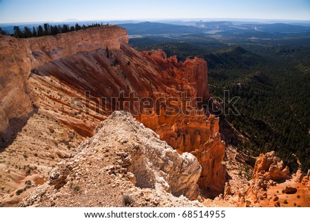 Landscape in Bryce Canyon National Park, Utah, United States of America - stock photo