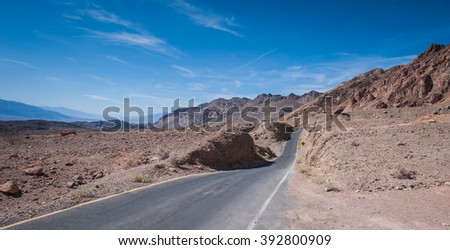 Landscape in Death Valley, California