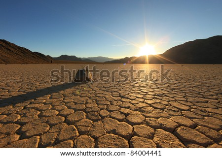 Landscape in Death Valley National Park, California - stock photo
