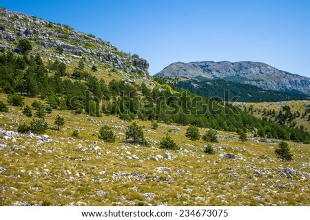 Landscape in Dinaric Alps, Badanj and Dinara, Croatia