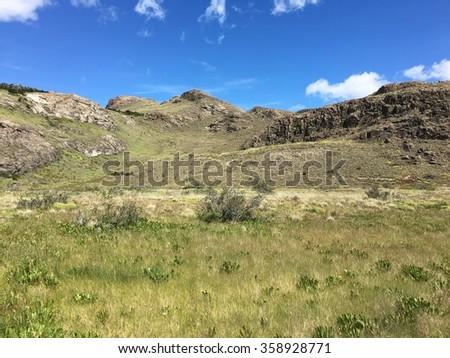 Landscape in El Chalten, Argentina - stock photo
