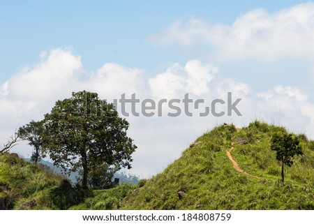 Landscape in Ella in Sri Lanka Hills country