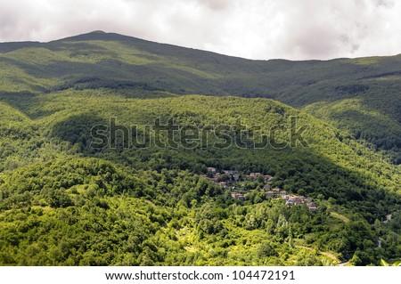 Landscape in Garfagnana (Lucca, Tuscany, Italy) at summer - stock photo