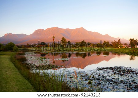 landscape in George, South Africa - stock photo