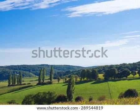 Landscape in Hesse - stock photo