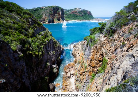 landscape in Knysna, Western Cape province,  South Africa - stock photo