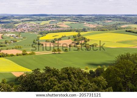 Landscape in Kraichgau, Baden-Wuerttemberg in Germany - stock photo