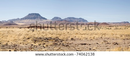 Landscape in Namibia - Brandberg Mountains
