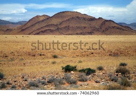 Landscape in Namibia - Brandberg Mountains - stock photo