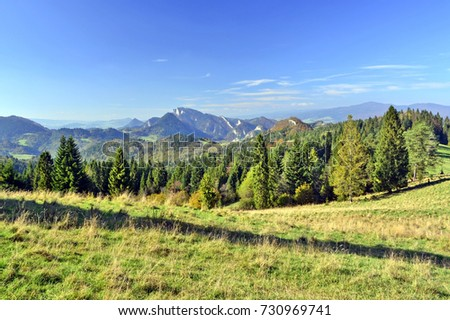 Landscape in Pieniny mountains, Poland