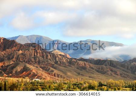 Landscape in Salta in Argentina, South America.  - stock photo