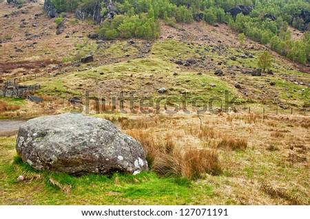 Landscape in Scotland - stock photo