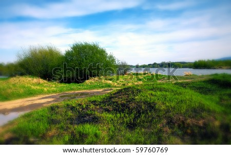 Landscape in Southern Poland - stock photo