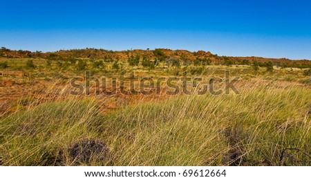 landscape in the australian outback, northern territory - stock photo