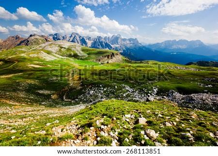 Landscape in the Italian Alps - stock photo