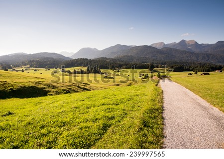 Landscape in the Karwendel Mountains - stock photo