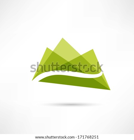 landscape in the mountains icon - stock photo