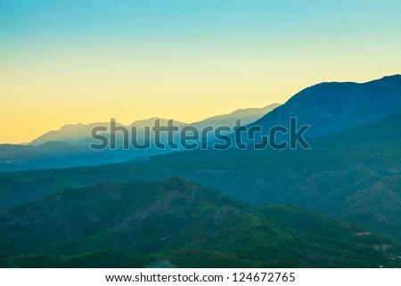 Landscape in the mountains. Turkey. - stock photo