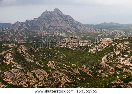 Landscape in the north part of Corsica, France, Europe