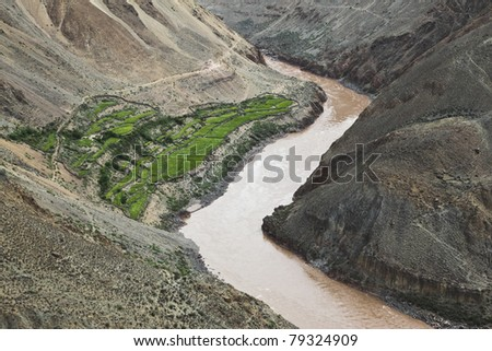 landscape in the northwest of china - stock photo