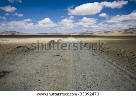 landscape in tibet, china - stock photo