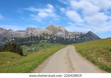 Landscape in Toggenburg, Santis - stock photo