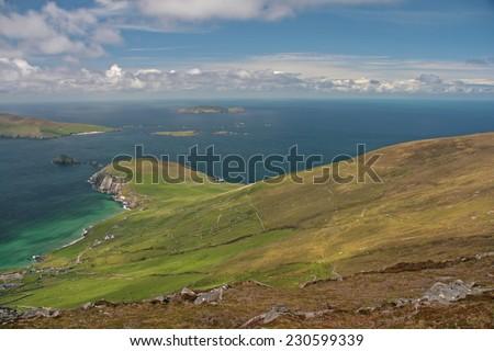 landscape ireland - stock photo