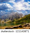 "Landscape. Lake ""Sea Eye"" in the Tatra mountains - stock photo"