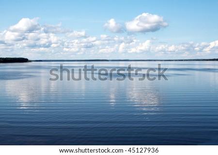 Landscape leisure resort lake beautiful - stock photo