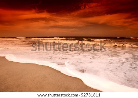 landscape ocean - stock photo
