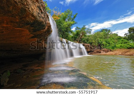 Landscape of a water fall - stock photo