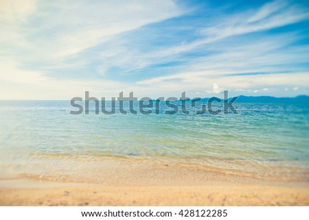 Landscape of beach in Thailand (Vintage filter effect used) - stock photo