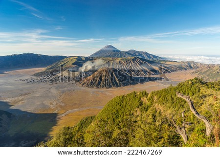 Landscape of Bromo mountain, Indonesia