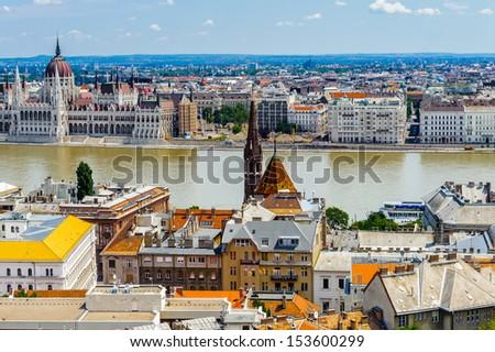 Landscape of Budapest, Hungary - stock photo
