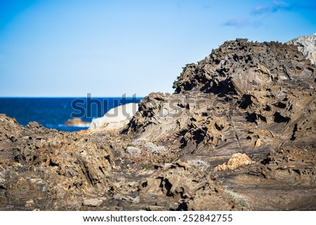 Landscape of Cap de Creus, a natural reserve in Costa Brava, Spain. - stock photo