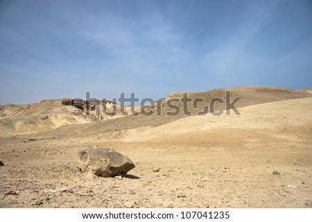Landscape of Desert and rocks near Hurghada, Egypt - stock photo