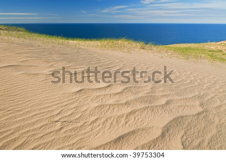 Landscape of Grand Sable Dunes, Pictured Rocks National Lakeshore, Lake Superior, Michigan's Upper Peninsula, USA - stock photo
