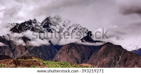 Landscape of Hunza Valley - stock photo