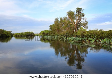 Landscape of Kakadu National Park,Yellow Waters, Australia