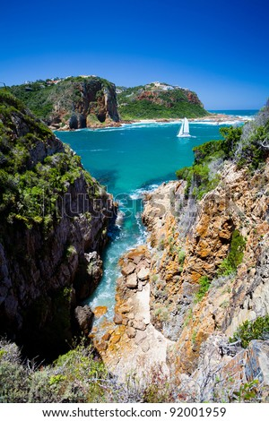 landscape of Knysna, Western Cape province, South Africa - stock photo