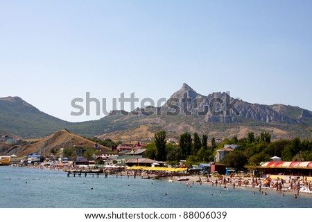 Landscape of Koktebel and the Karadag mountain in Crimea, Ukraine