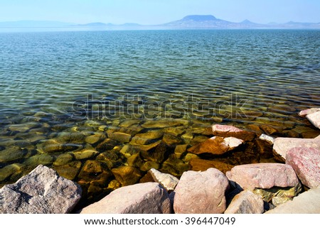 Landscape of Lake Balaton ( Fonyod), Hungary   - stock photo