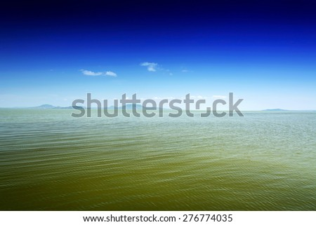 Landscape of Lake Balaton, Hungary - stock photo