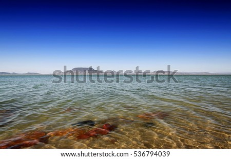 Landscape of Lake Balaton in spring time, Hungary