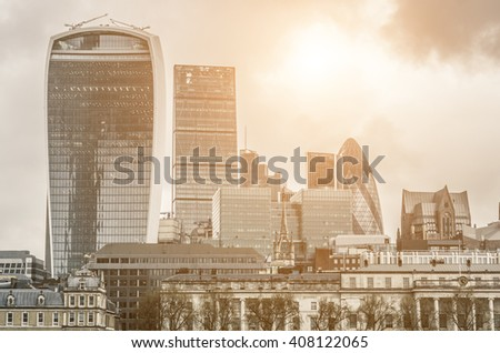 Landscape of London - stock photo