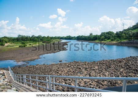 Landscape of Mae Ping Ton Lang Dam, Thailand. - stock photo