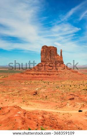 Landscape of Monument Valley, Arizona - stock photo