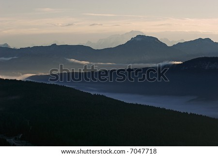Landscape of mountain in the brown